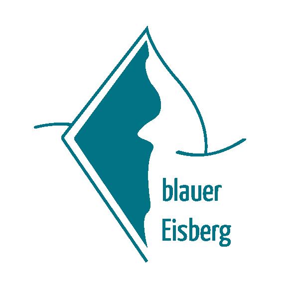 Logo blauer Eisberg