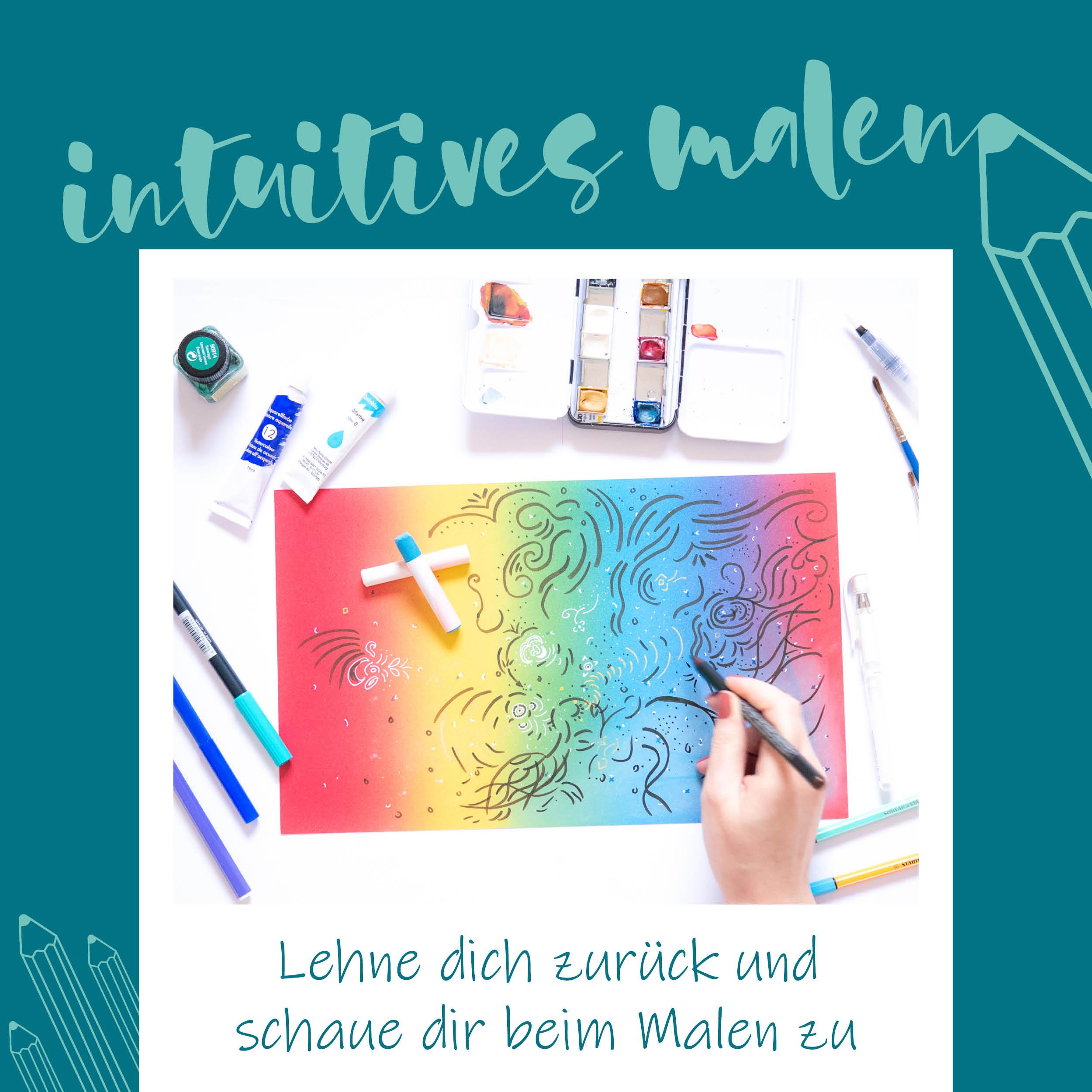 BlauerEisberg-intuitives-Malen
