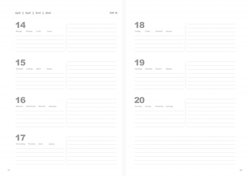 blauer Eisberg - Kalender im Vergleich Buchkalender
