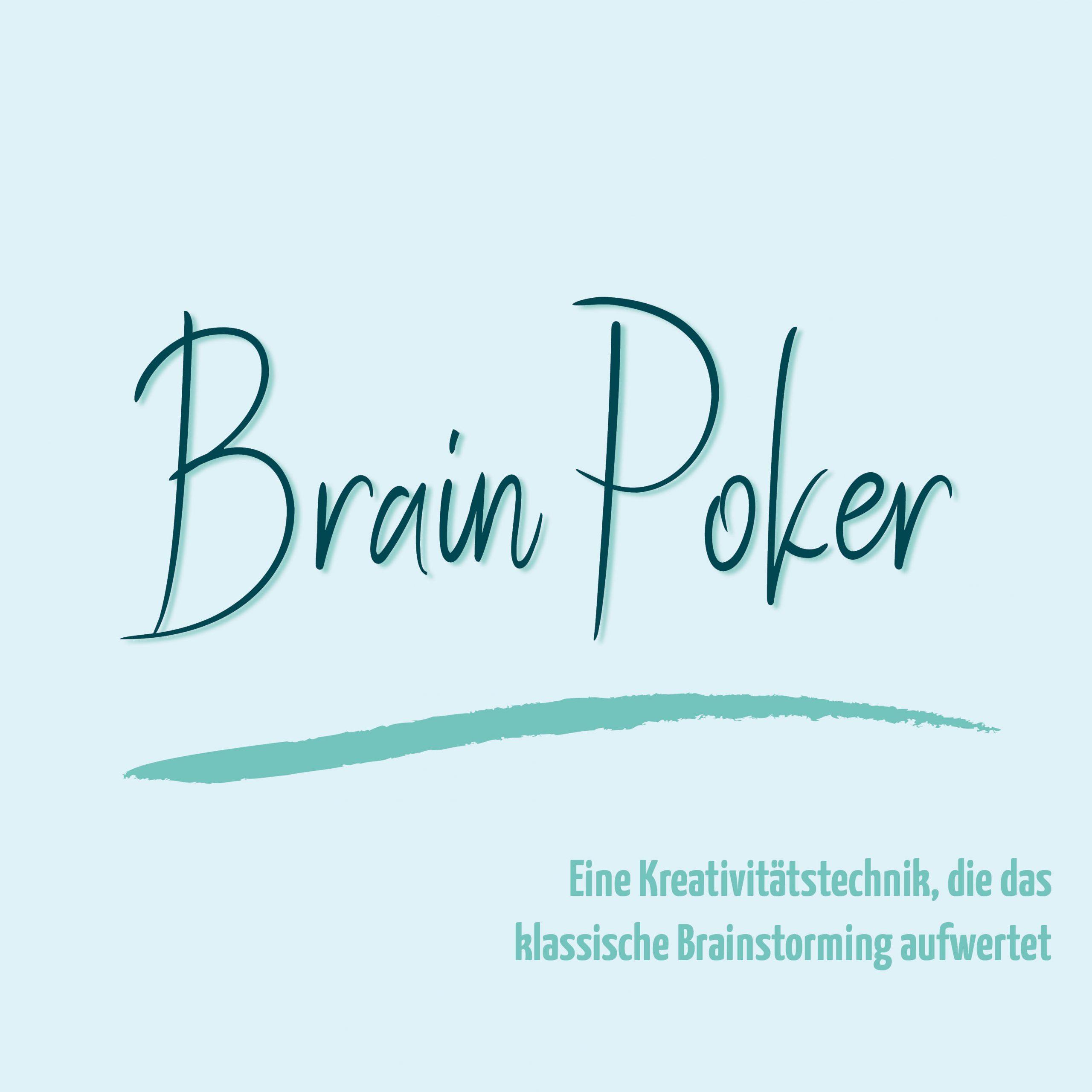 blauer Eisberg _ Kreativitätstechnik Brain Poker